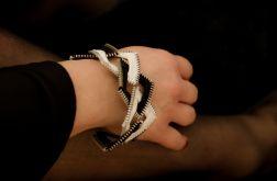 Designerska czarno-biała bransoleta kwadraty