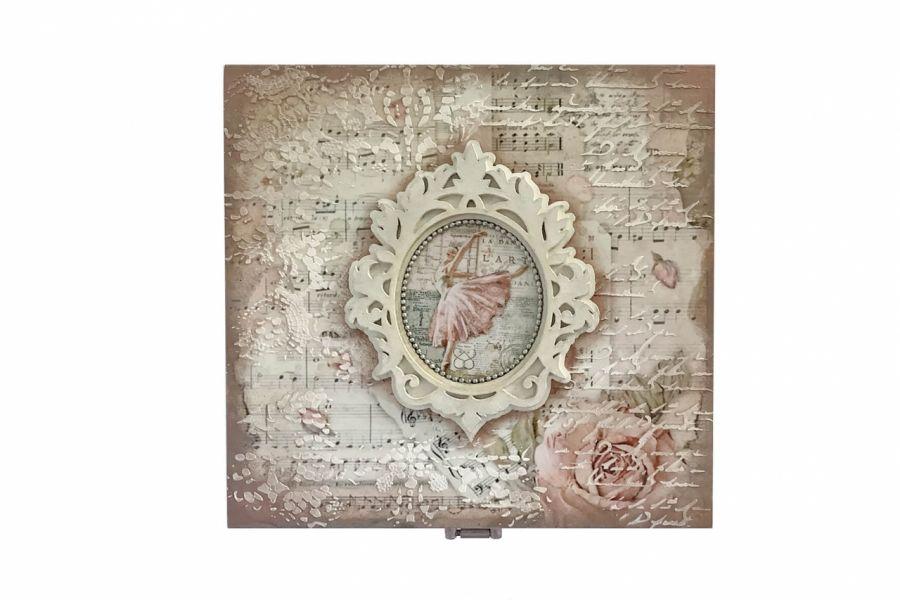 Szkatułka, pudełko vintage z baletnicą -