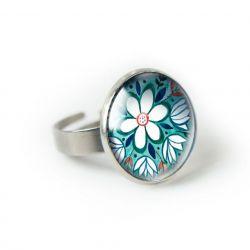 GREEN FOL pierścionek regulowany z ilustracją