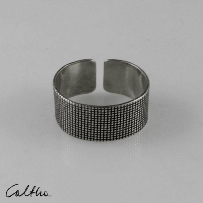 Płótno - srebrna obrączka 191007-03