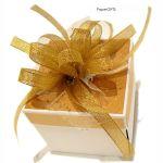 Exploding box ślubny złoty ręcznie robiony