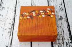 pudełko duże pomarańczowe tulipanki