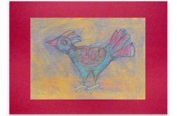 Ptaszek 36- rysunek dekoracyjny,obrazek ptak
