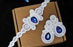 Szafirowy komplet ślubny, biżuteria sutasz