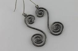 Zawijasy - srebrne kolczyki 190710-09