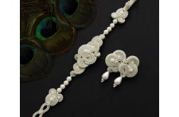 Komplet ślubny midiro light ivory soutache