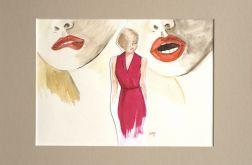 kolaż kobiecy Red