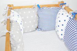Modułowy ochraniacz do łóżeczka 6 szt N13