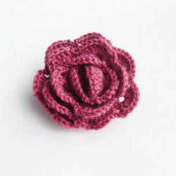 Róża - broszka