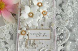 Ślubna kartka DL w pudełku z okienkiem 27