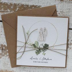 Kartka ślubna stylowa 1