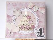 Kartka na roczek z torcikiem 220816