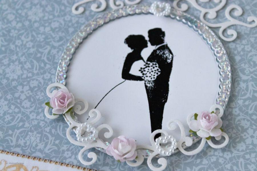 Kartka Czekoladownik na Merci W dniu ślubu - Zbliżenie