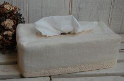 Lniany chustecznik - złamana biel