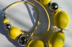 Naszyjnik z ceramiką, żółty