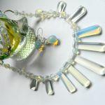 Elegancka biżuteria z opalami, kolia,kolczyki