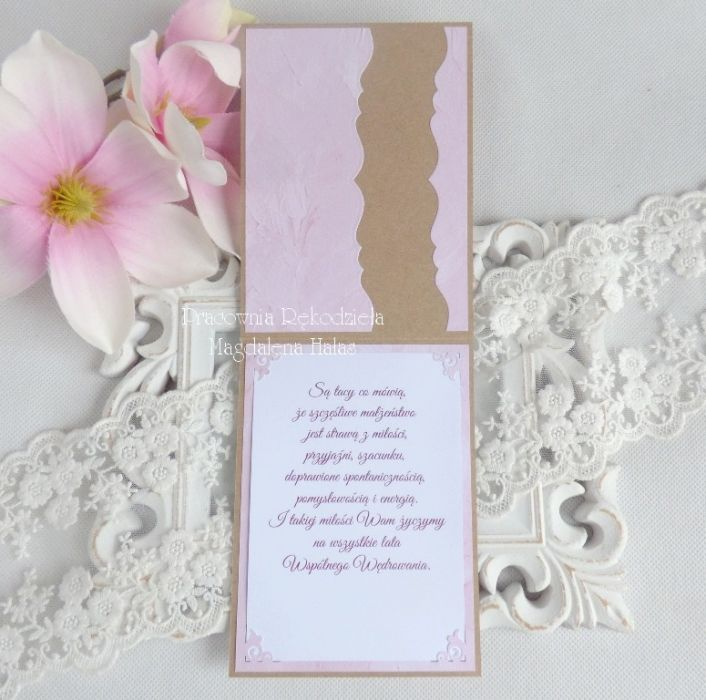 Ślubna kartka w pudełku 184 -