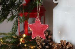 Świąteczna zawieszka ze skóry - gwiazdka 1