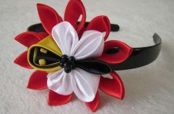 Pszczółka na kwiatku - opaska na włosy