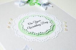 Wyjątkowa kartka ślubna - quilling