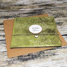 Ślubna kartka w zieleni