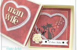 Kartka na Ślub z kotami w pudełku 2