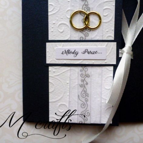 Obrączki - kartka ślubna