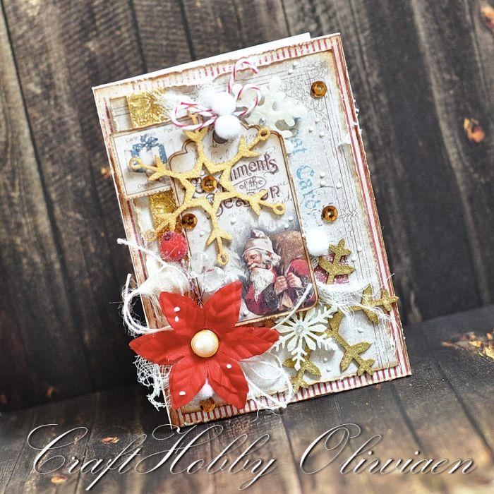 Św. Mikołaj - kartka w stylu vintage