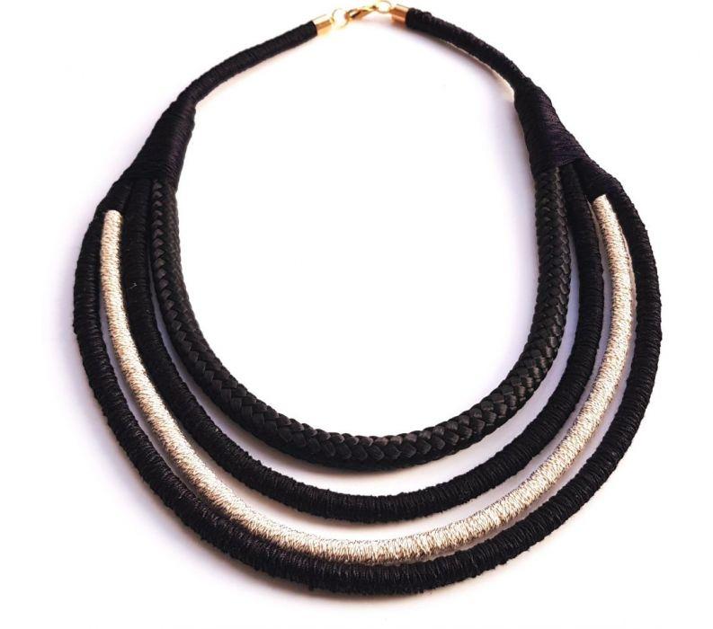 Naszyjnik bawełniane liny Kalisia