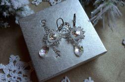 kolczyki z kryształem Swarovski - srebrne