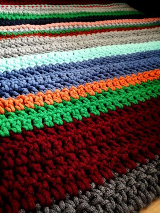 Dywan na szydełku dywan ze sznurka DS10