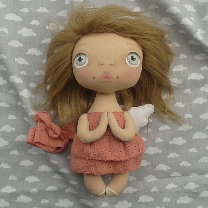 ANIOŁEK lalka - dekoracja tekstylna, OOAK/24