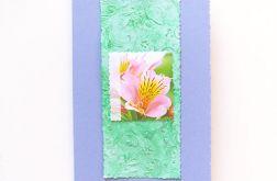 Kartka fioletowa - kwiatek 9