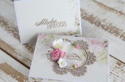 Kwiatowa kartka ślubna z pudełkiem A3