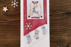 Kartka świąteczna ze sweterkiem #35