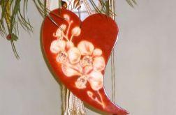 Serce z kwiatem malowanym.