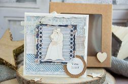 Kartka ślubna w pudełeczku (s04)