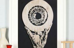 """Drewniany obraz """"Hand has no tears to cry"""""""