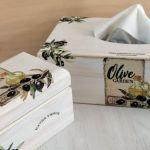 Chustecznik i herbaciarka- komplet # - chustecznik na prezent