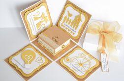 Ślubny exploding box w złocie;)