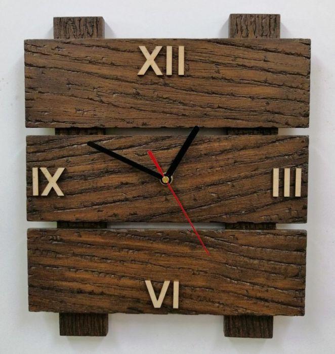 Zegar ścienny drewniany tablica c. rzymskie