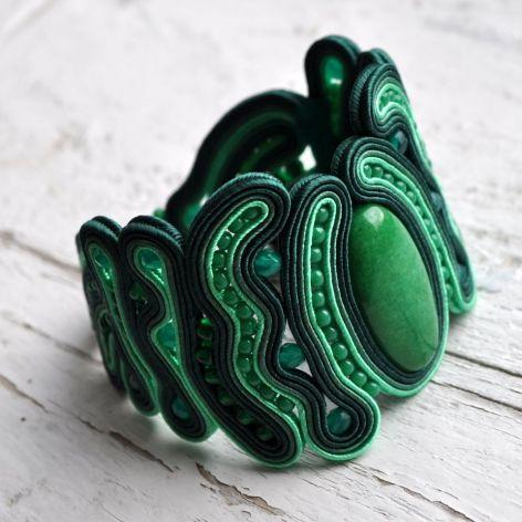 Bransoletka z zielonym jadeitem
