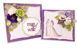 Komplet ślubny - kartka + pudełko - #679