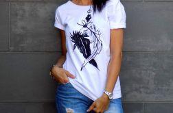 """t-shirt luźny """"PIÓRA"""""""