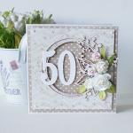 Kartka urodzinowa - okrągła '50' v.2 - braz1a