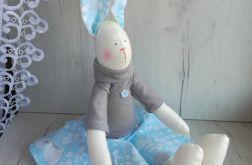 Króliczek Tilda 48cm w niebieski GOTOWY