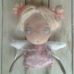 ANIOŁEK lalka tekstylna, cute angel 1, OOAK - tak wyglądam jako aniołek