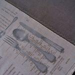 Rustykalna serweta - sztućce i menu 82 x 82 cm -