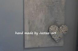 """Obraz """"szarość betonu-serce"""""""