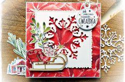 Sanki - kartka bożonarodzeniowa